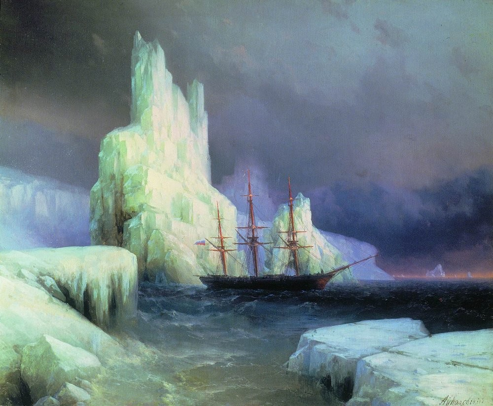 Kate miterko icebergs in the atlantic 1870