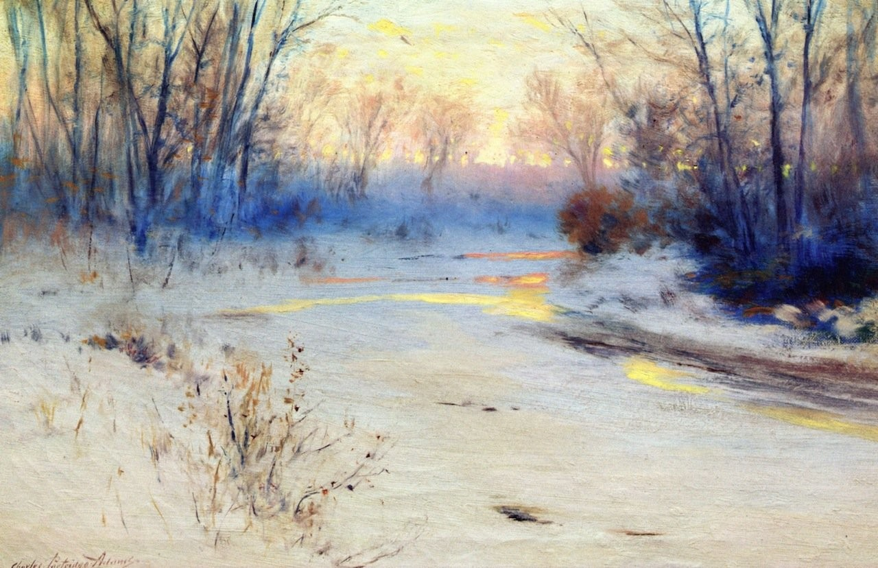Kate miterko charles partridge adams xx snowy sunset xx private collection