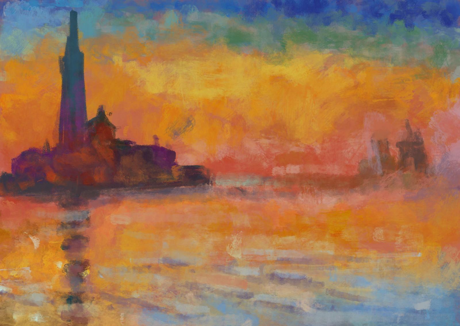 Claude Monet: Saint-Georges Majeur Au Crépuscule - Study