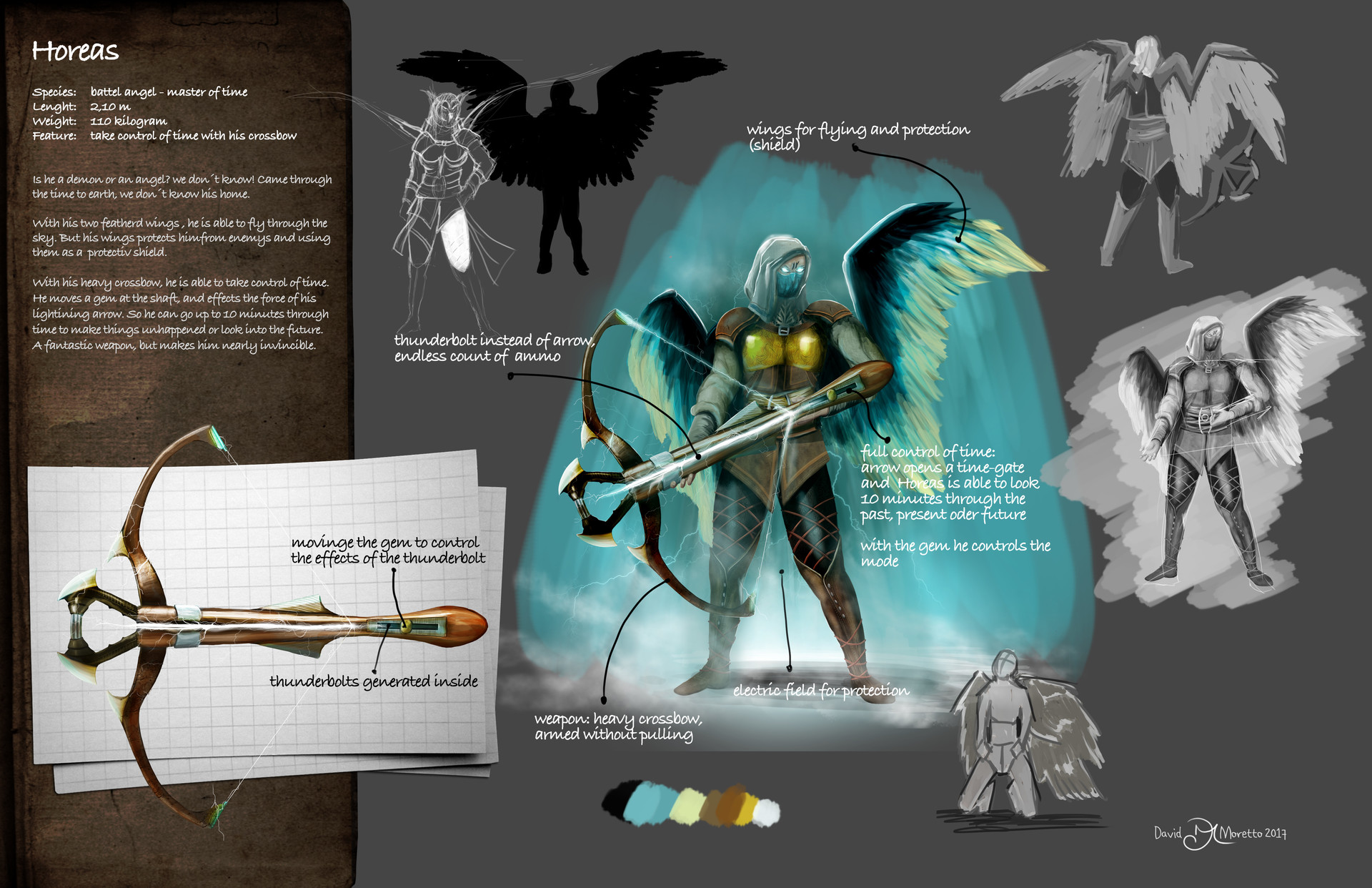 Concept Art of Horeas - the battle angel