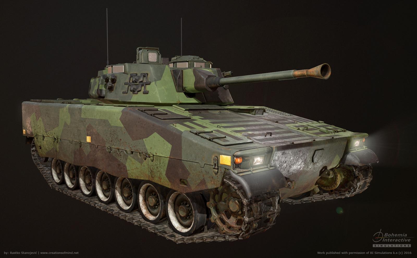 CV-90 (STRF 9040b) - Game model -  real time render