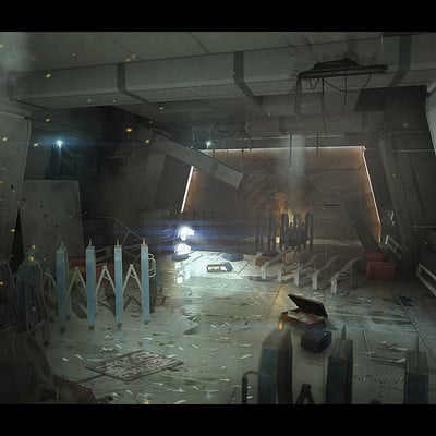 Brx wright airport corridor barricades 01
