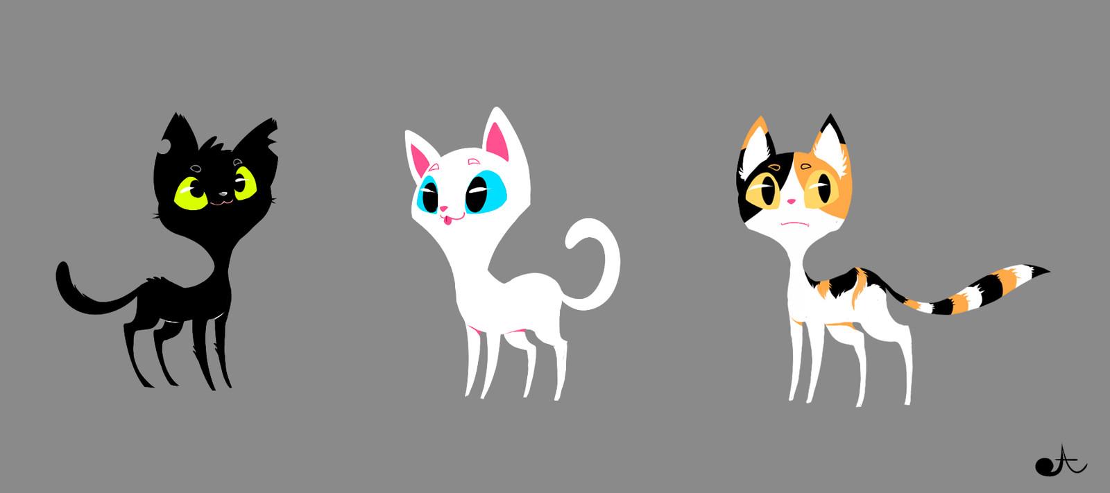 Cat Character Designs