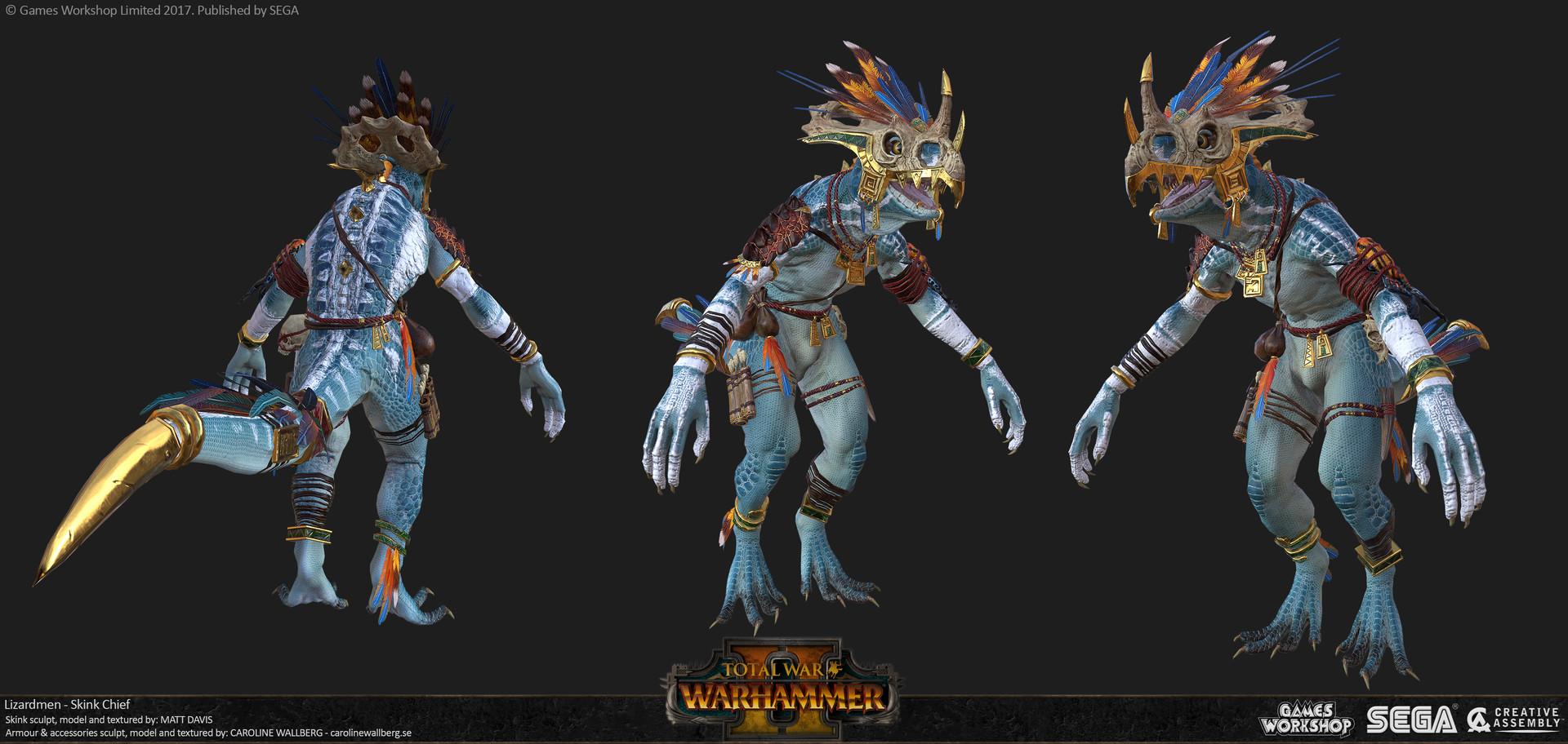 ArtStation - Total War: Warhammer - Skink Chief, C Wallberg
