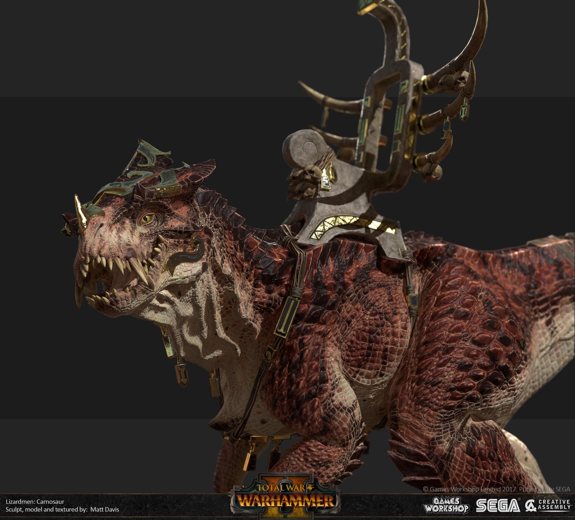 Matthew Davis Total War Warhammer 2 Carnosaur