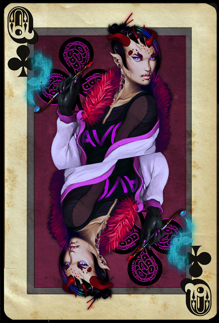 Robert dubrovskis queen of clubs by sirbronson dbnv4fj