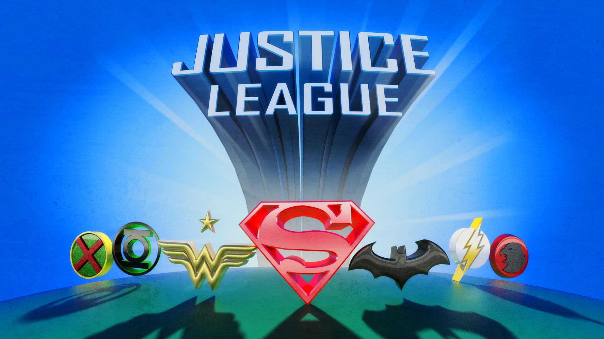Justice League Title in 3D