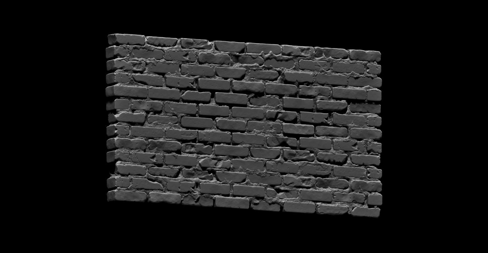 Bela csampai brick wall 01 render zb 01