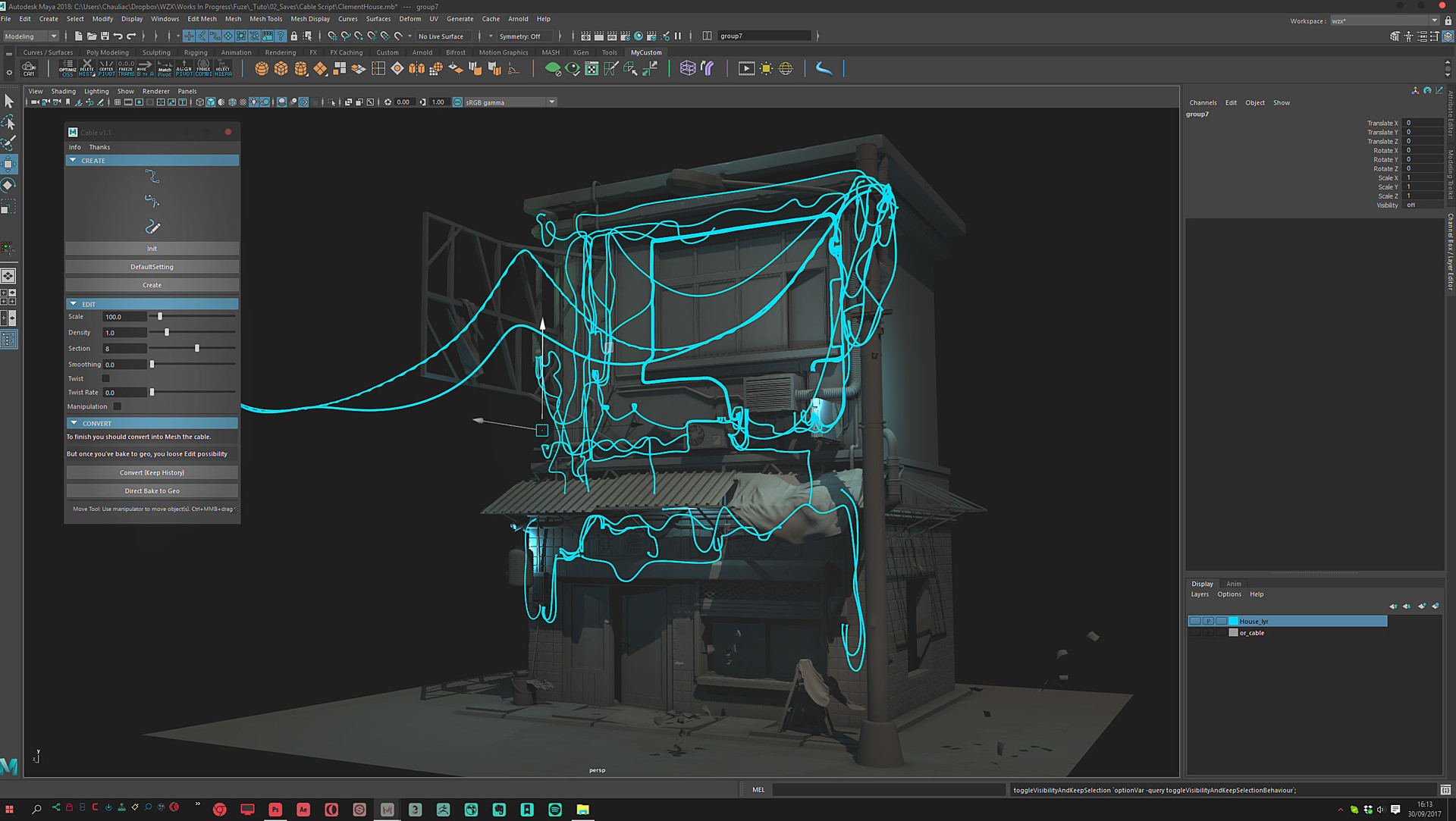 ArtStation - CABLE Script for Maya, - Wizix -