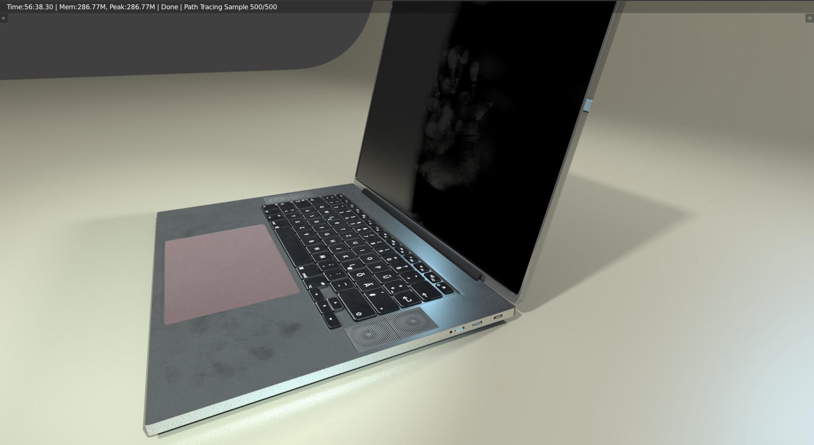 Original Laptop - Dirty w/ handprint