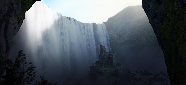 Waterfall Ruins