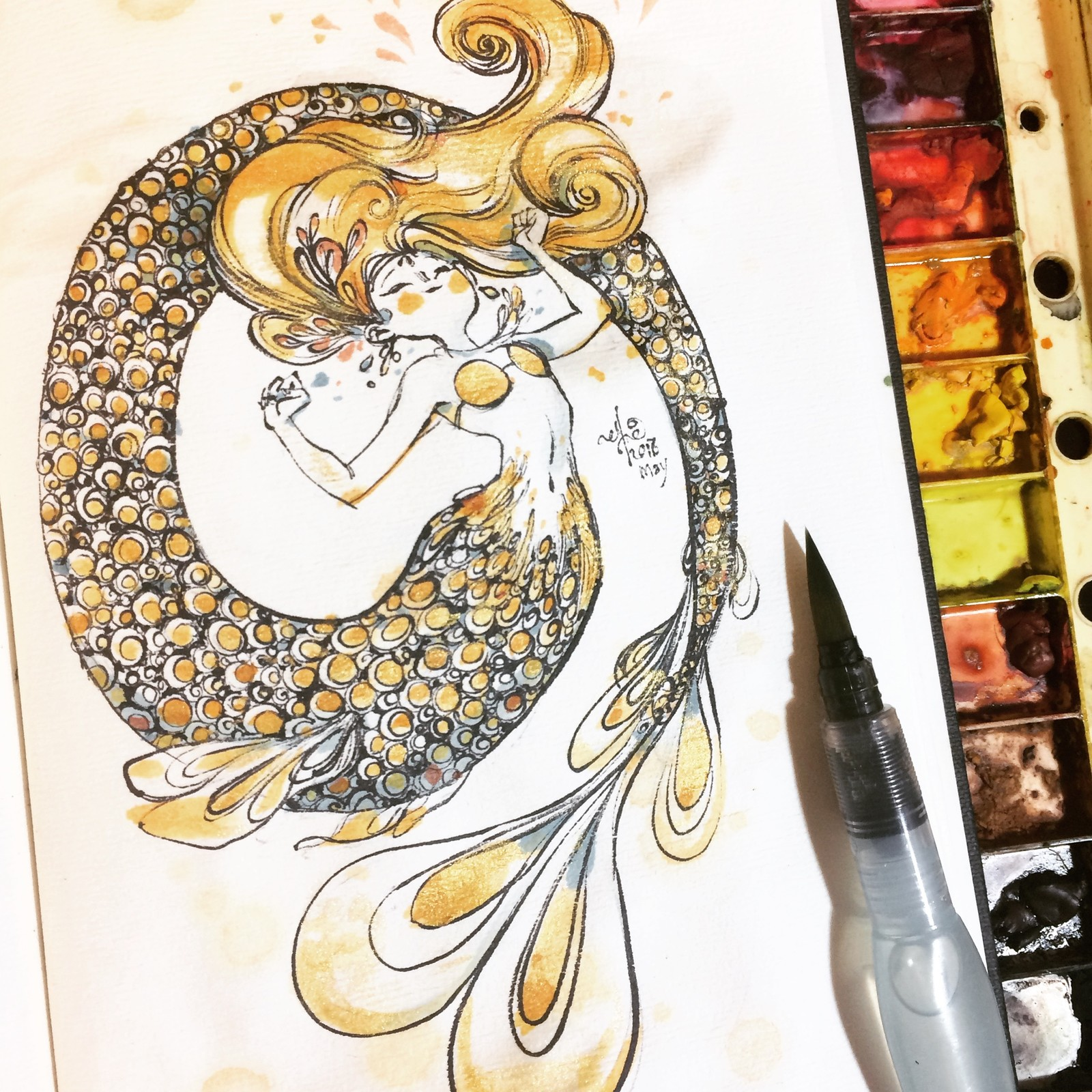 Fight away them Monday blues with a yellow mermaid!