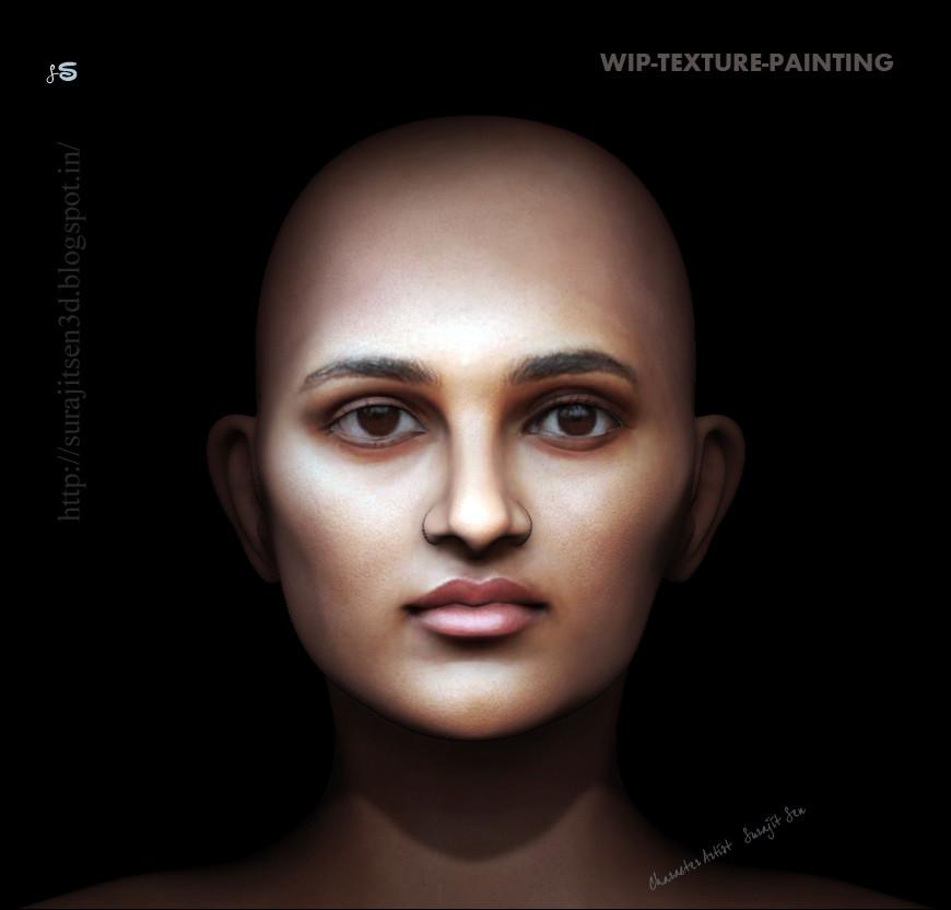 Surajit sen texture painting wip surajitsen 28082017