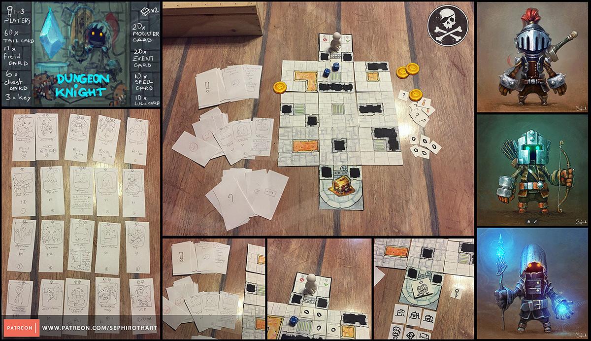 Sephiroth art dungeon knight game1200