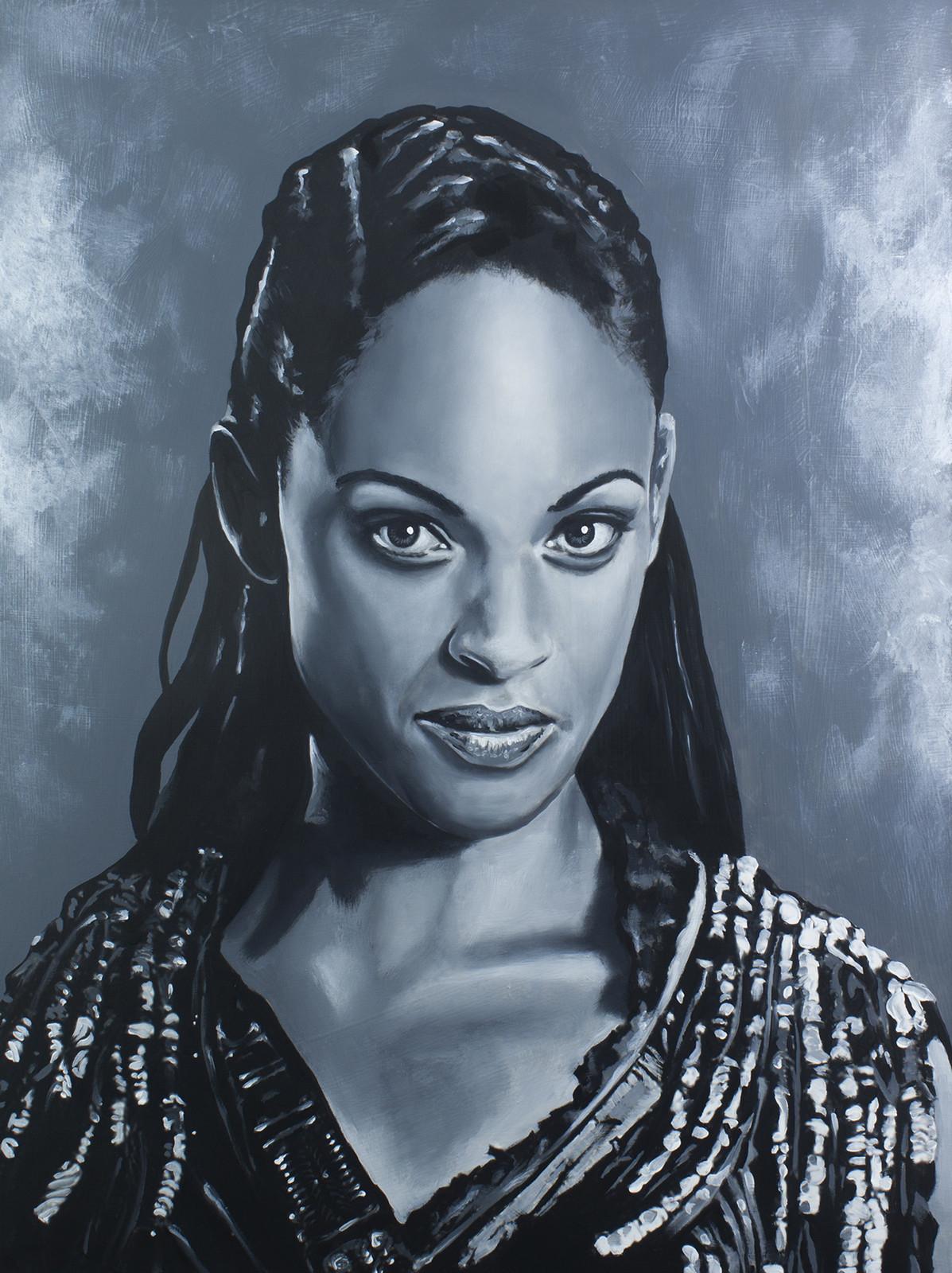 Naevia - Cynthia Addai-Robinson Spartacus Series - Acrylic on board. 16x20