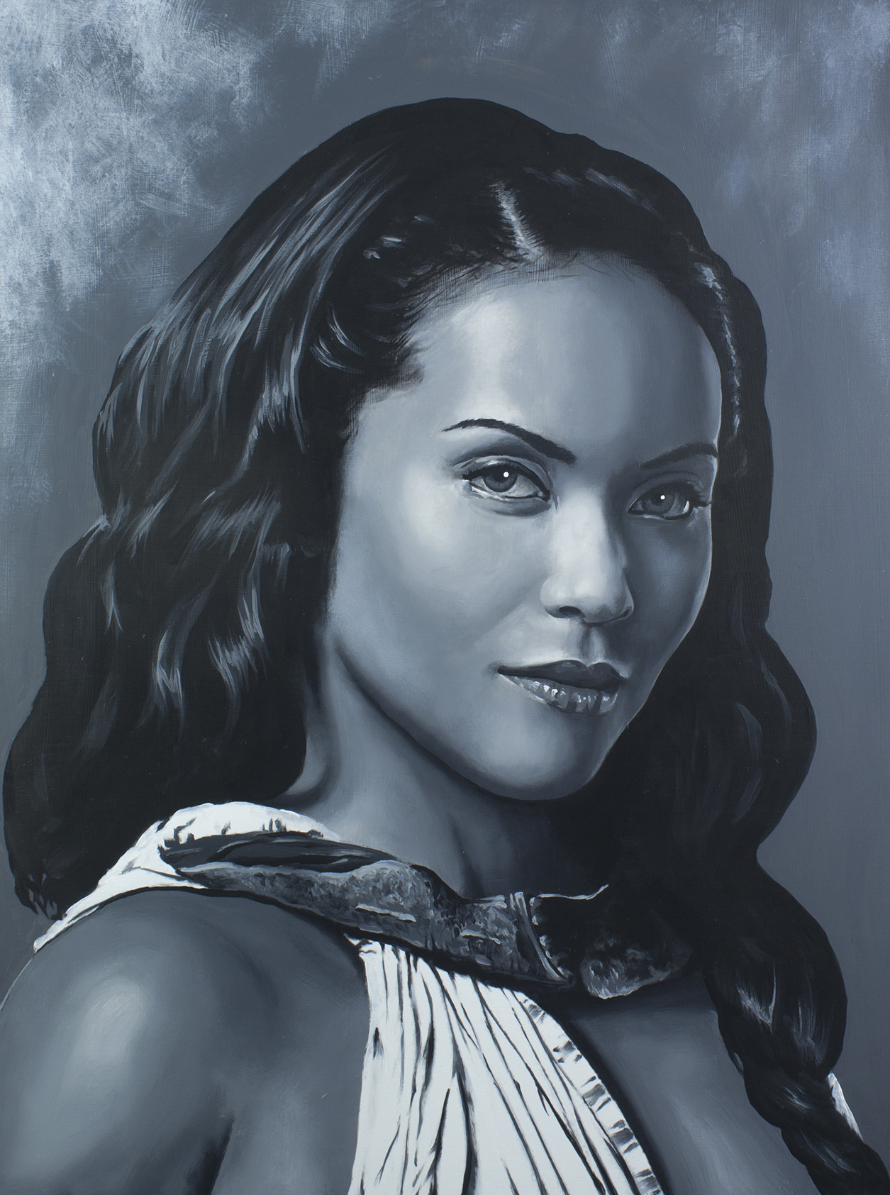 Naevia - Lesley-Ann Brandt Spartacus Series - Acrylic on board. 16x20