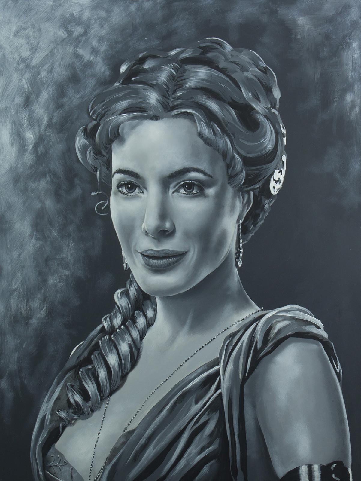 Gaia - Jaime Murray Spartacus Series - Acrylic on board. 16x20