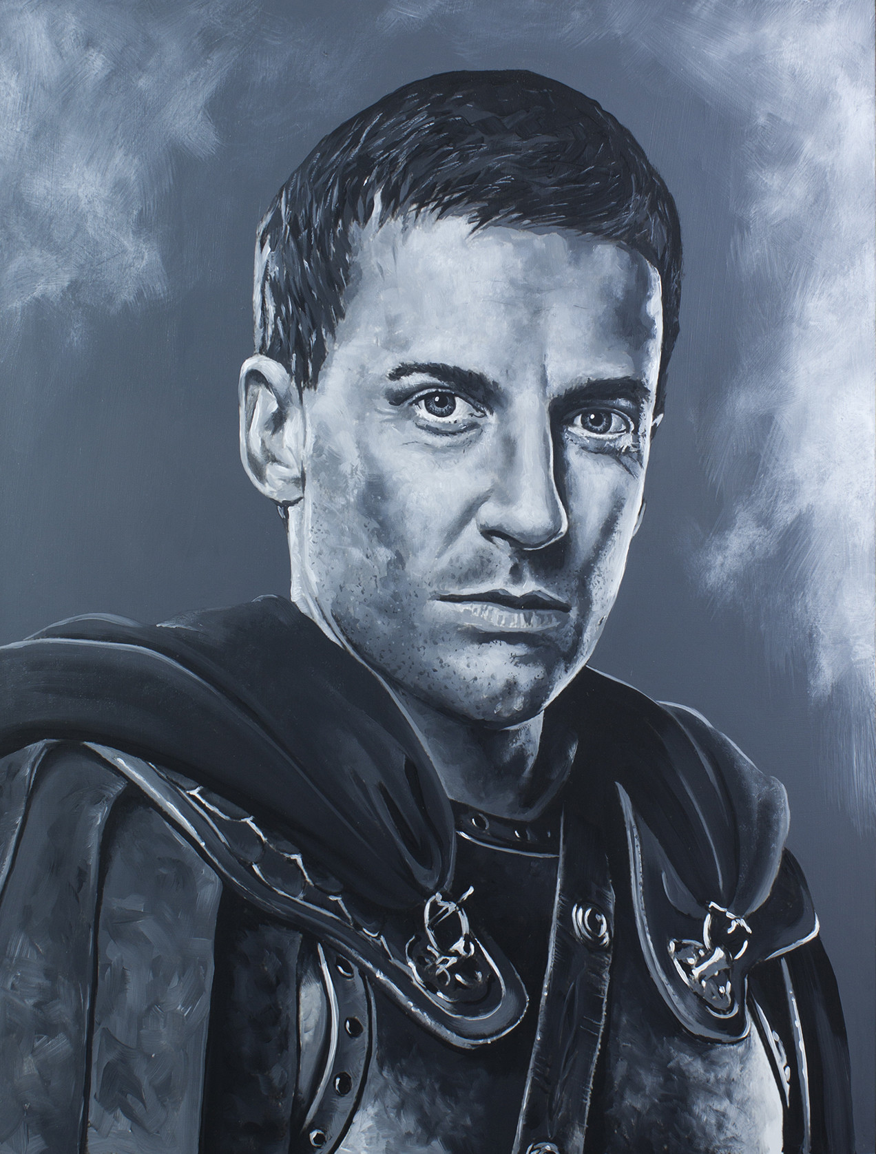 Claudius Glabber - Craig Parker Spartacus Series - Acrylic on board. 16x20