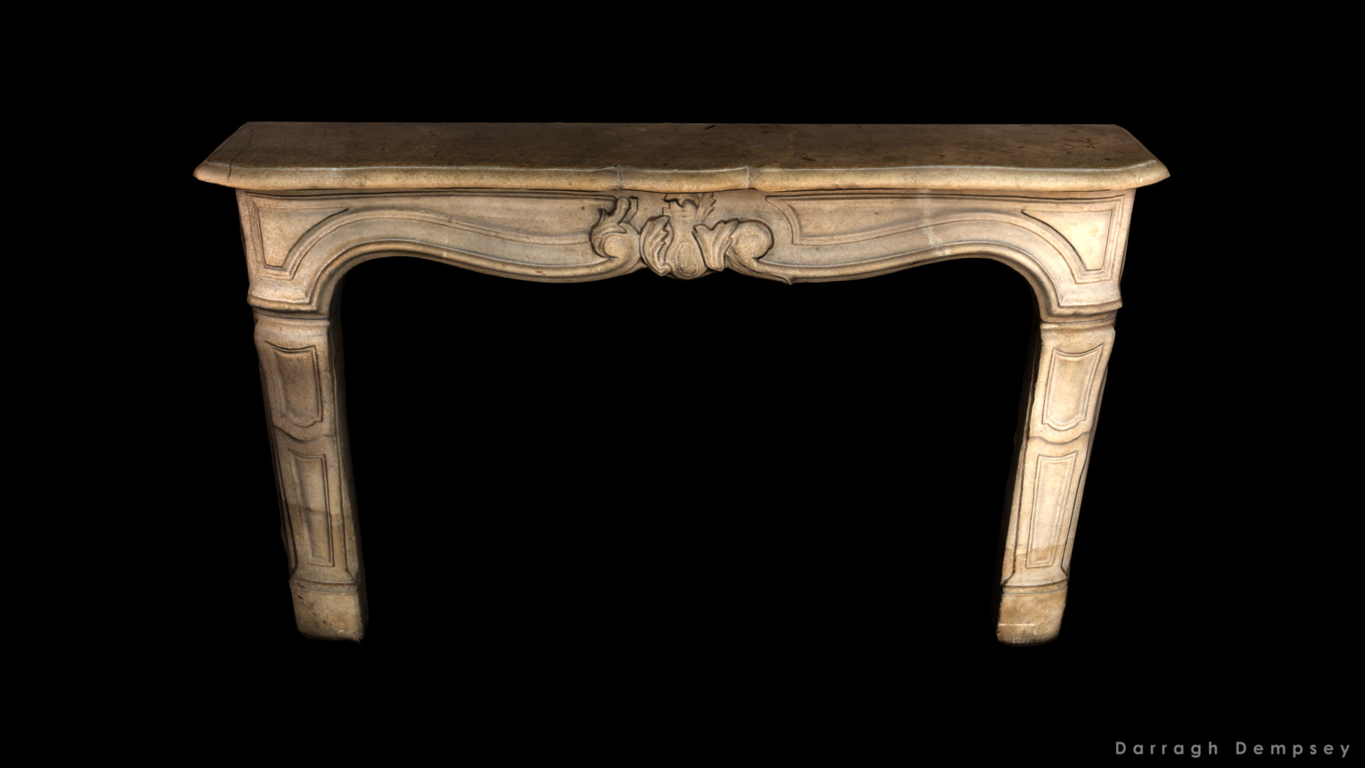 Sandstone fireplace low-poly model. captured with with a Canon EOS 100D and created in Agisoft Photoscan. Cleaned up in Zbrush.