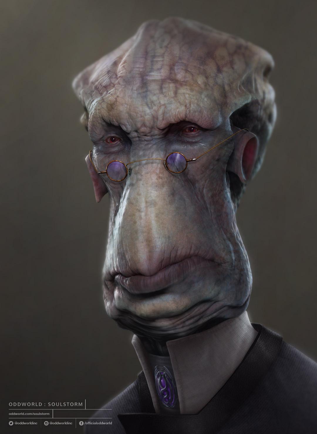 Oddworld Soulstorm character portraits, Glukkon 3