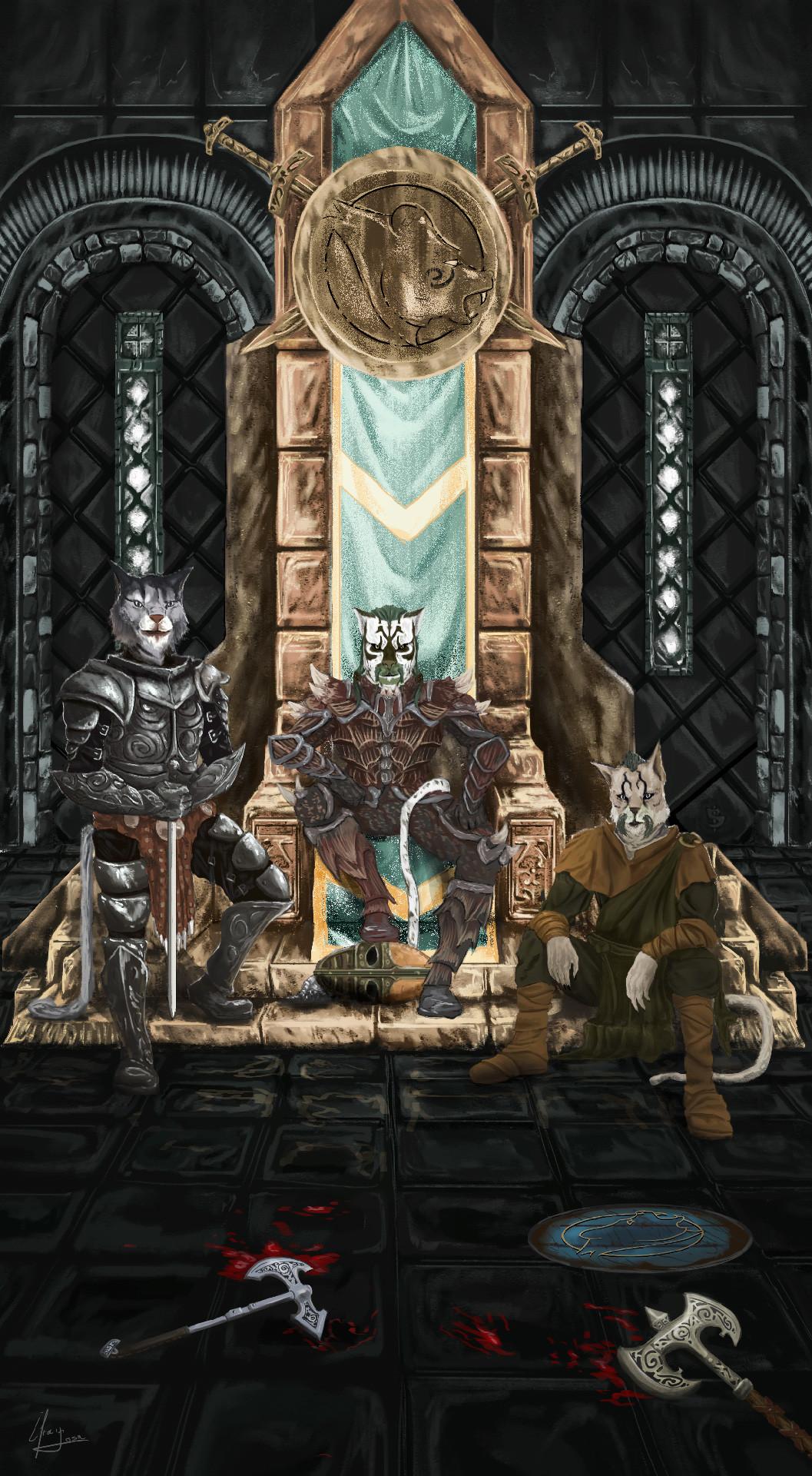 Efrain sosa los khajiitas en el trono final