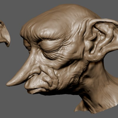 Dobby the House Elf speed sculpt WIP