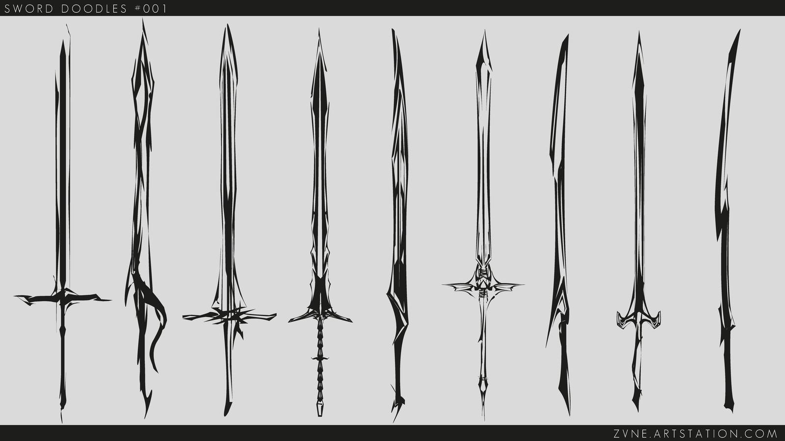 Sword Doodles (Shilouettes)