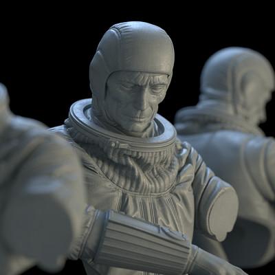 Astronaut Bust - 3D Print Design
