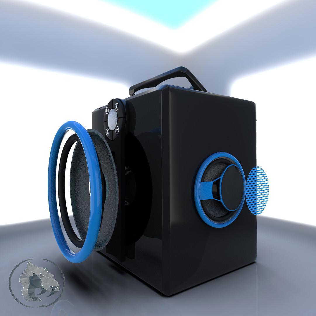 ArtStation - Speaker in 3ds max | keyshot | After effect