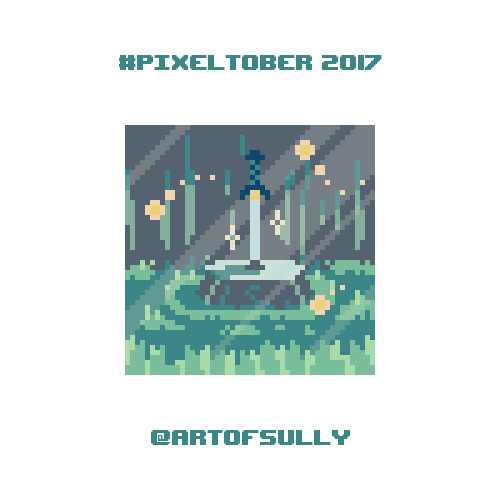 #pixeltober - Day 2 - 'Magic Sword'