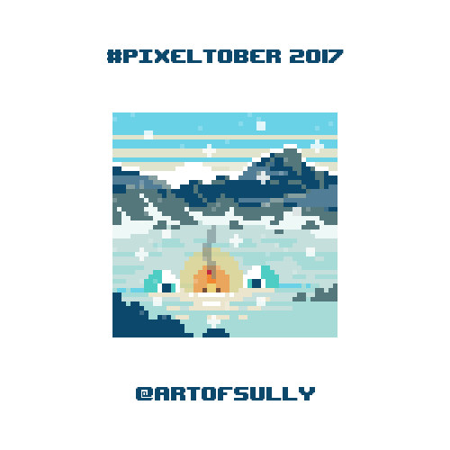 #pixeltober - Day 3 - 'Icy Mountains'