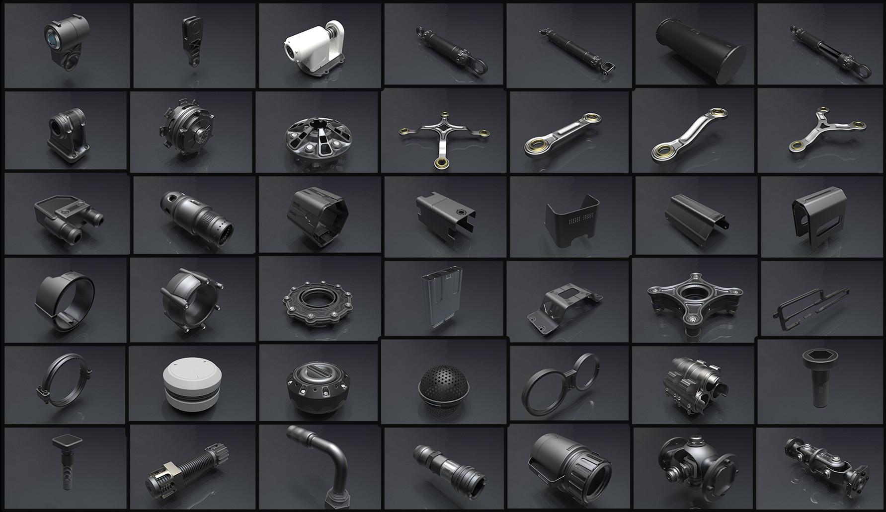 ArtStation - Free sci-fi kitbash set for Fusion 360 - Zbrush