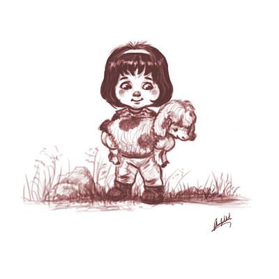 Okan bulbul kid with a lamb 02