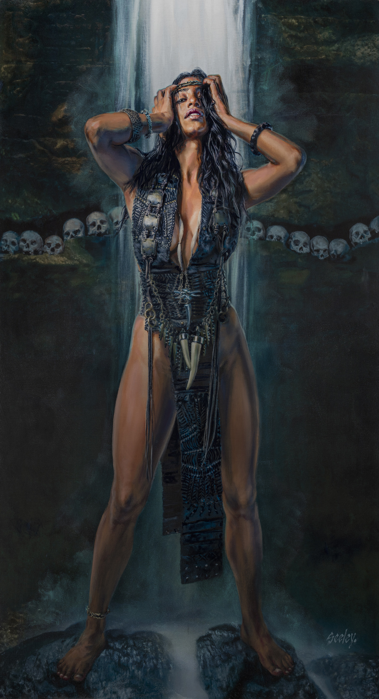 Artstation Azteca Jaguar Priestess Dave Seeley