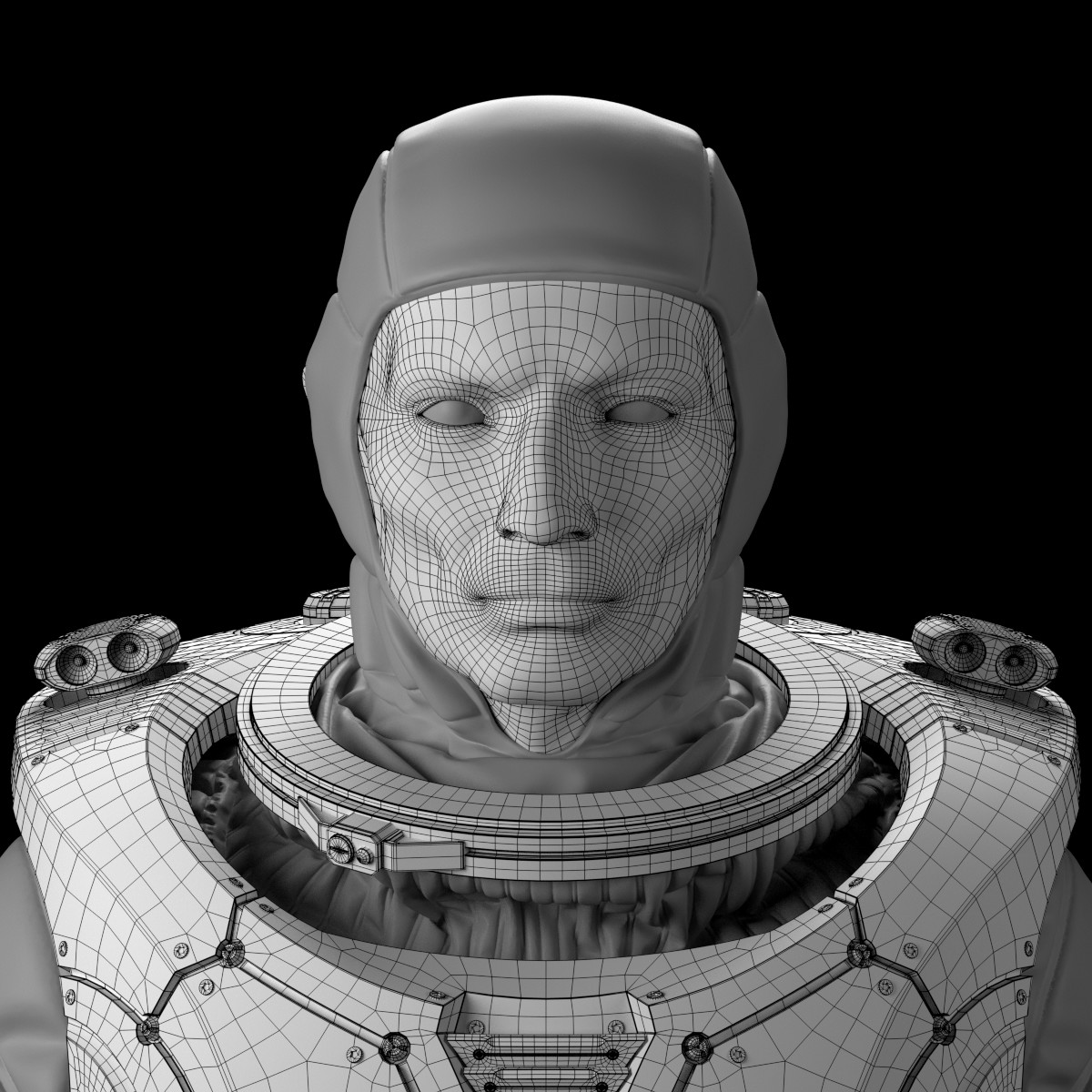Jesus bibian jr spaceman portrait wireframe v01