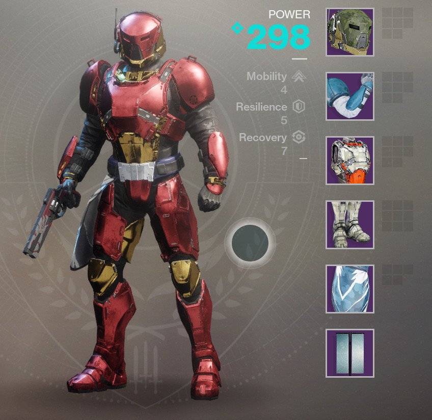 As Snarky A Hunter Intelligent Warlock And Encapsulated In Crimson Gold Armor Just Like You