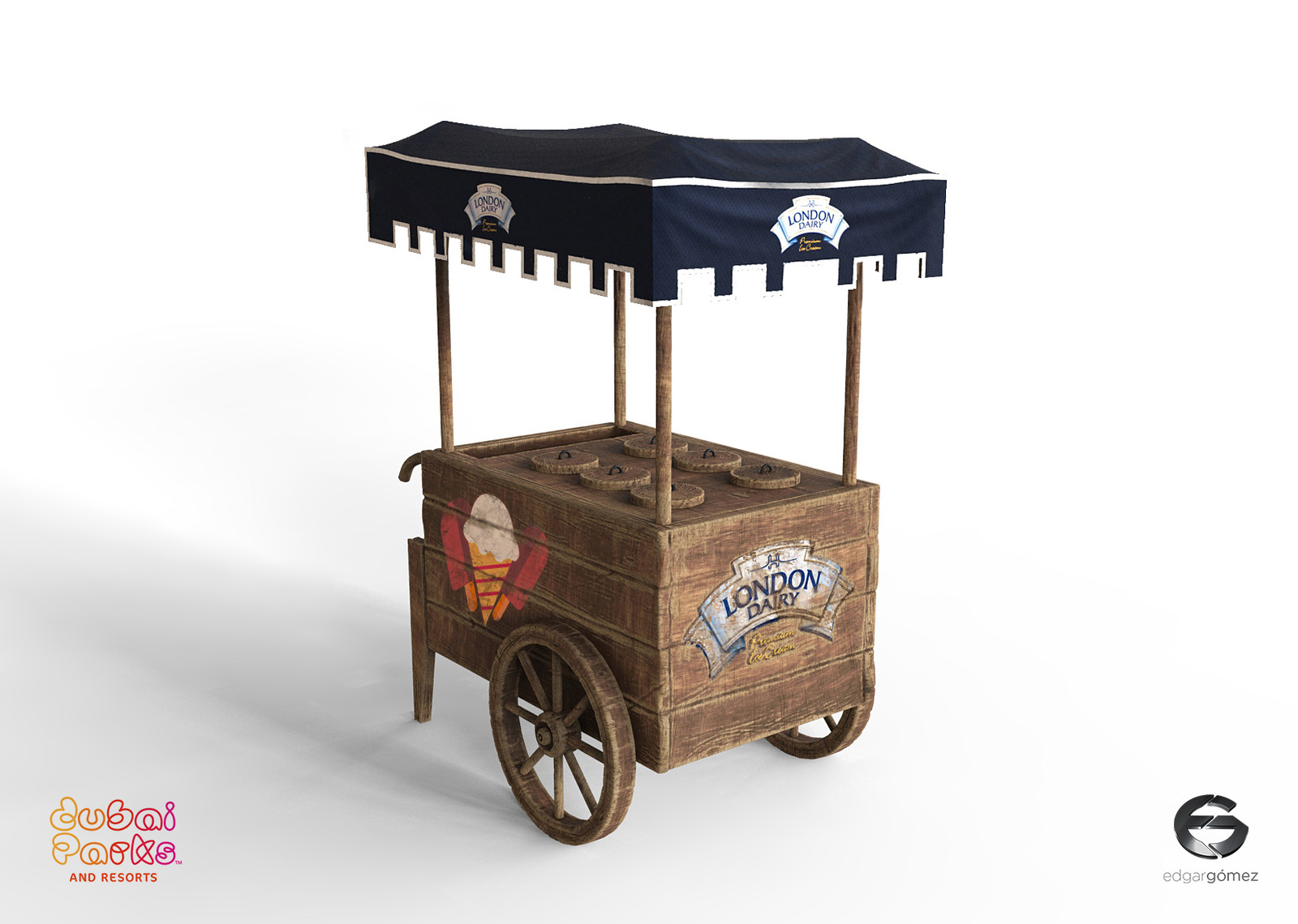 Medieval Ice Cream Trolley