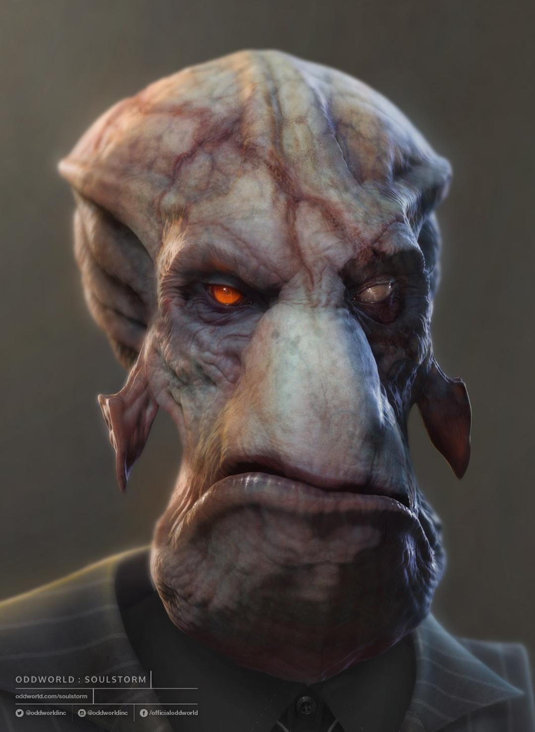Oddworld Soulstorm character portraits, Molluck