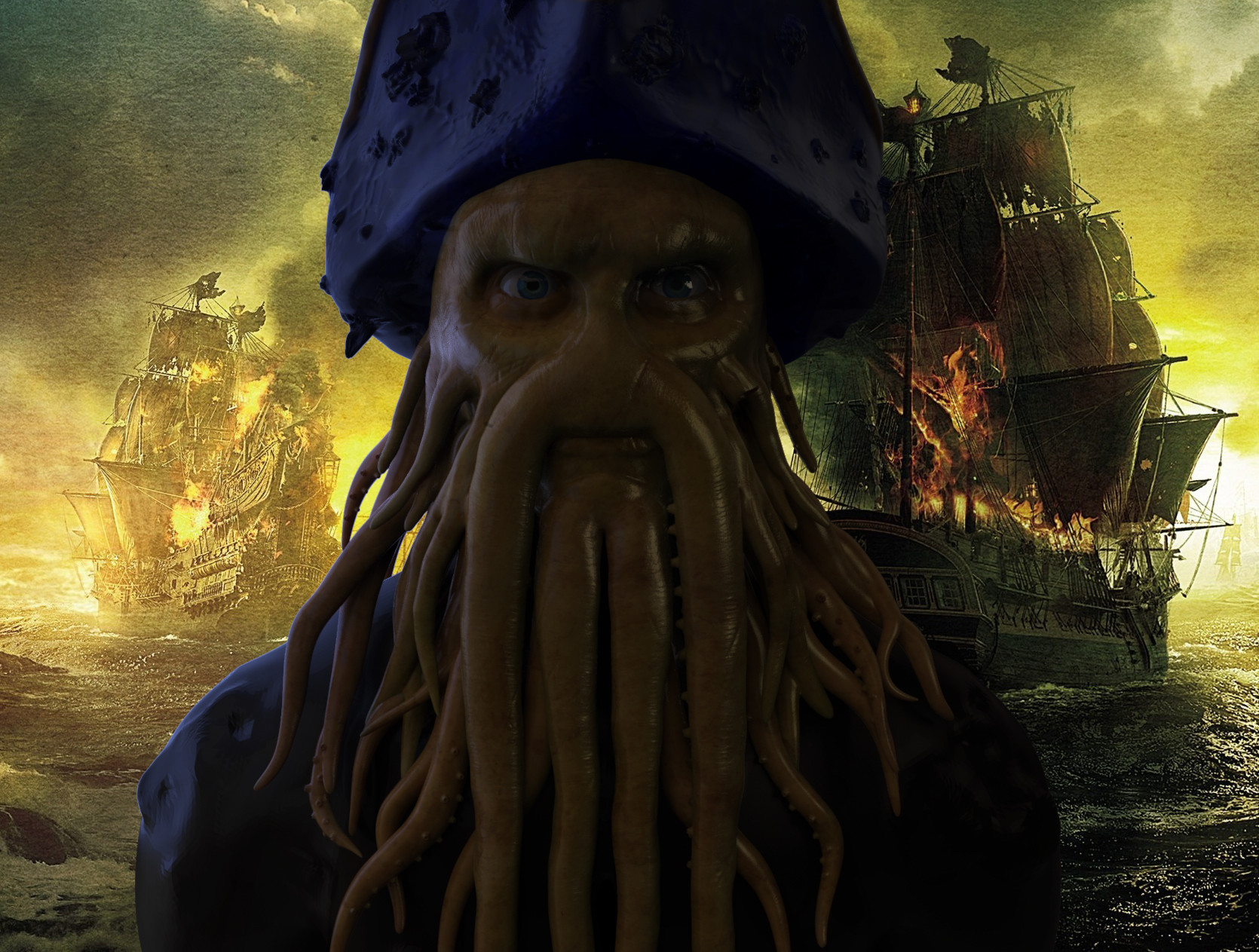 ArtStation - Pirates of the caribbean Davy jones , Chero