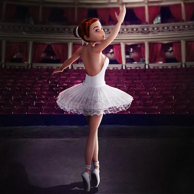 Ariana 3d art ballerina 001