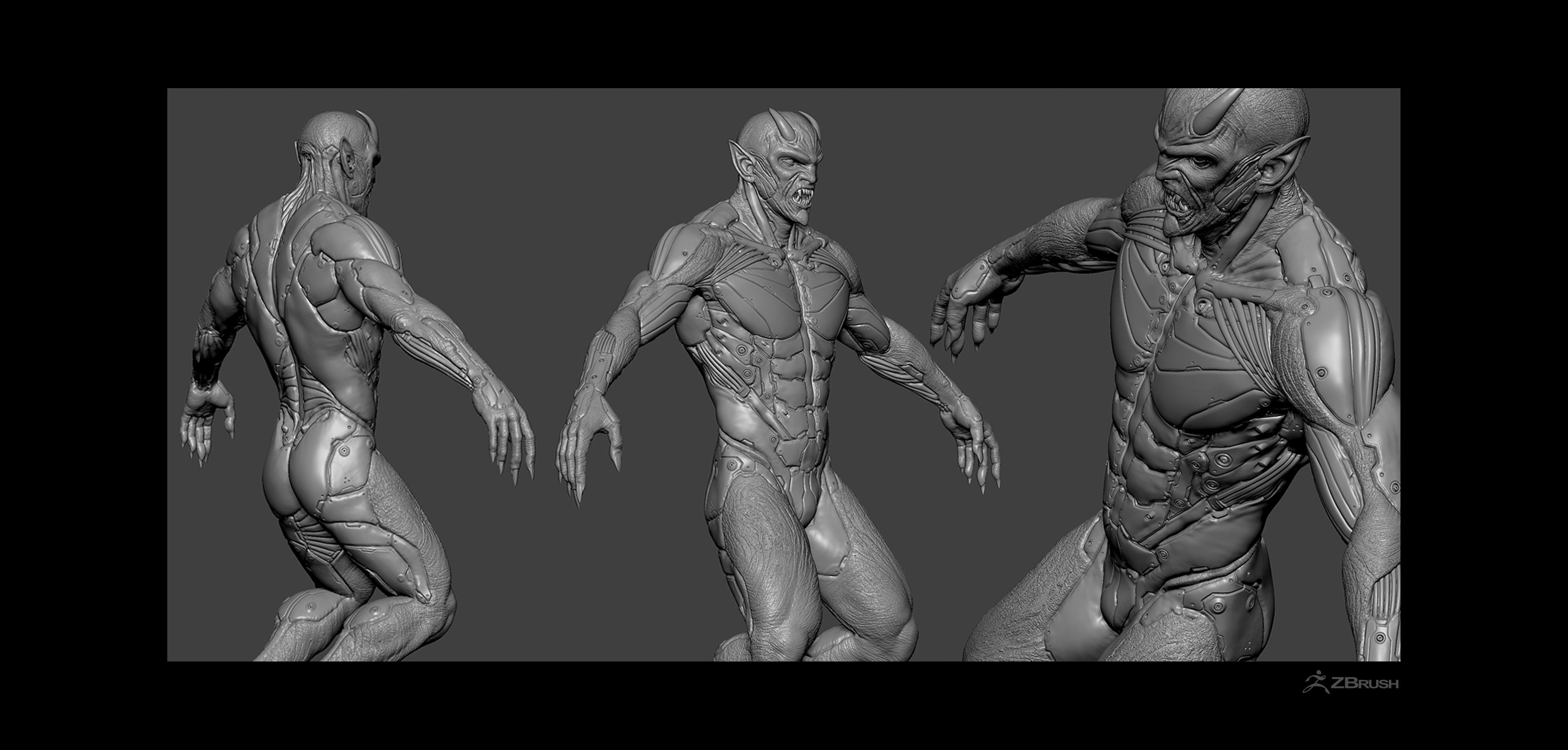Entirely sculpted in ZBrush
