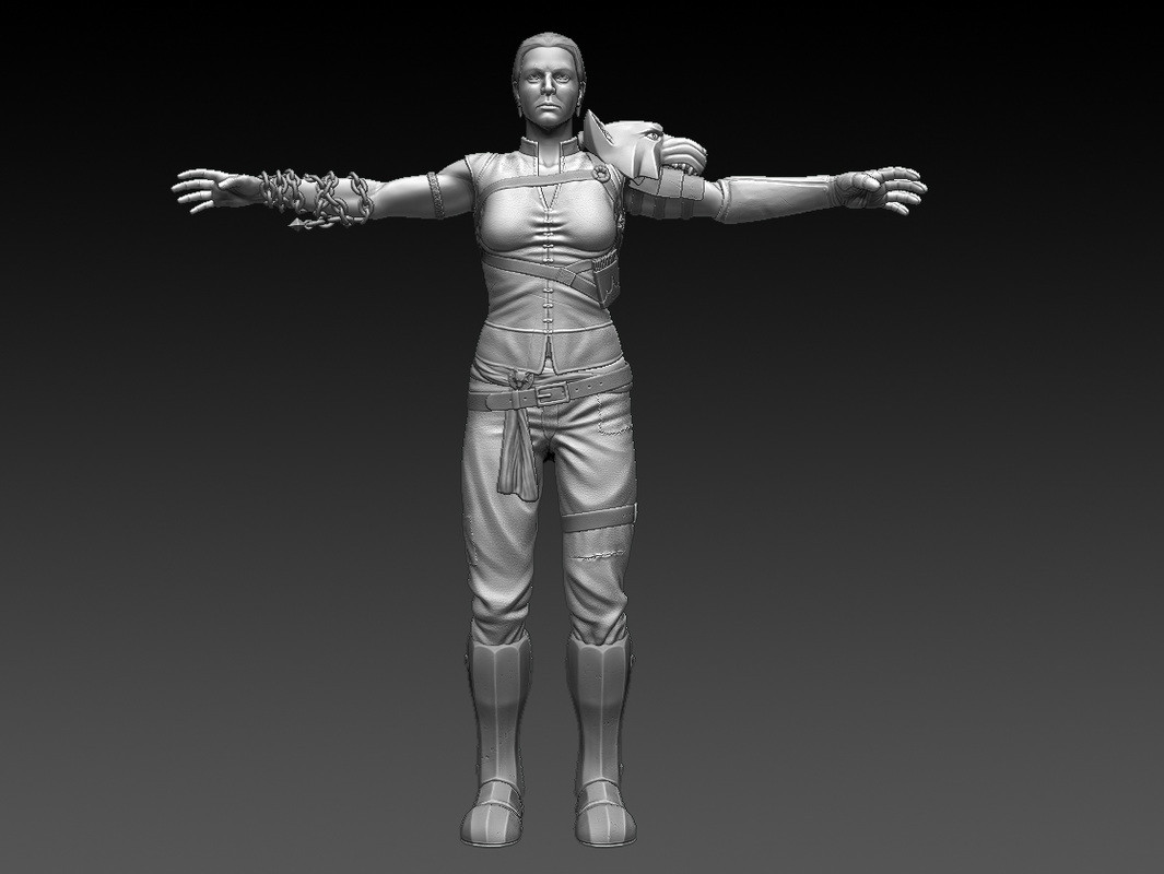 Front view sculpt
