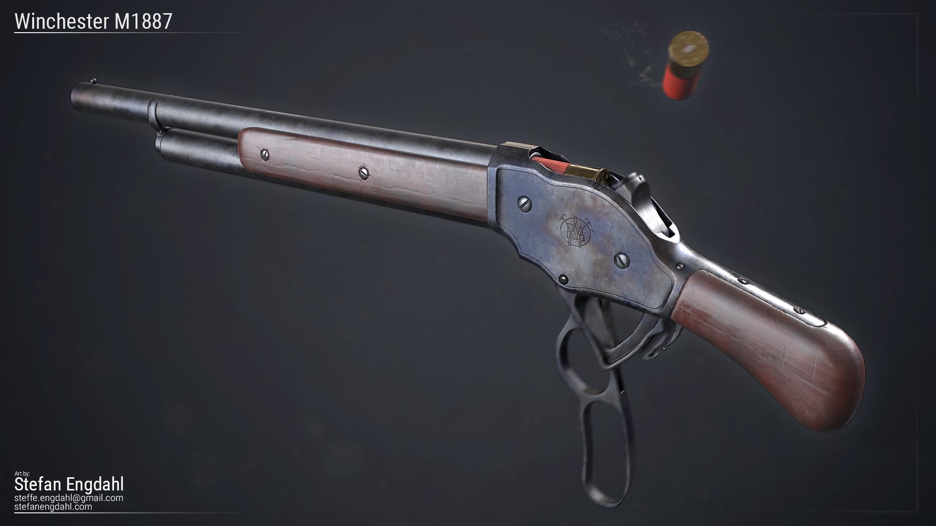 ArtStation - Winchester M1887, Stefan Engdahl