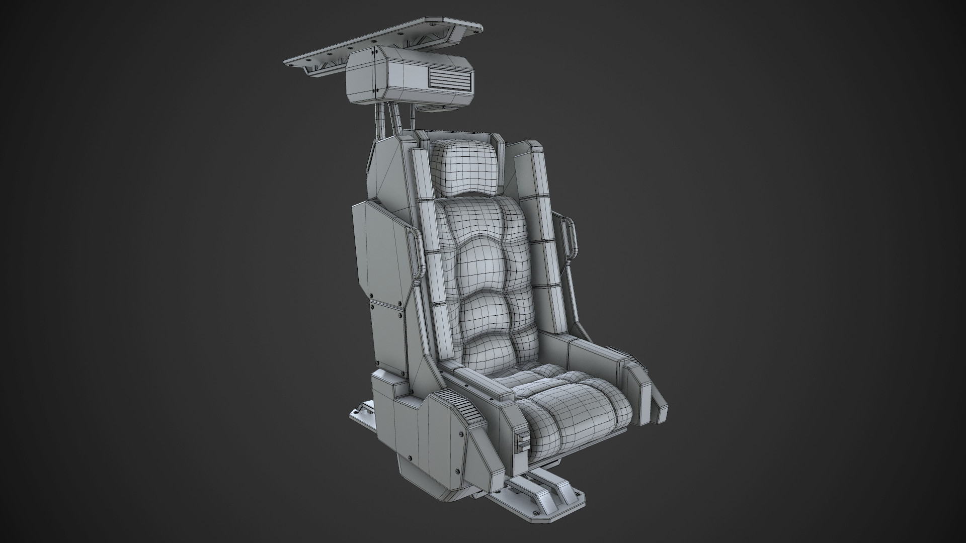 ArtStation - Spaceship Chair, Nikola Dimitrijevic