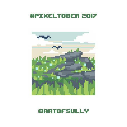 #pixeltober - Day 5 - 'Grassy Knoll'