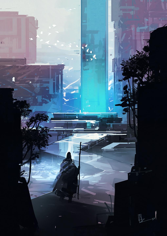 Amir zand artstation blue