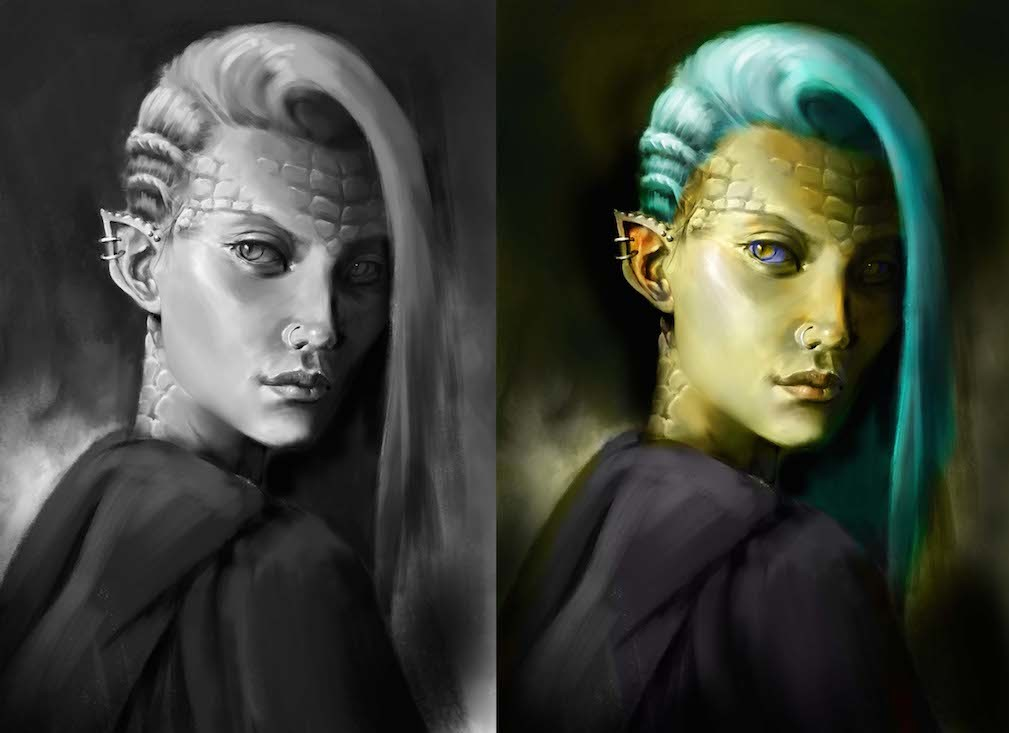 Finished values + Color Sketch