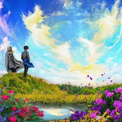 Sam k fantasy background small dalia and sam