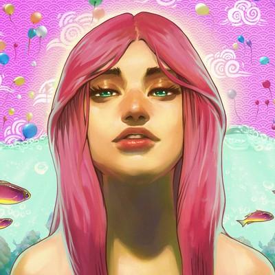 Sam k swimming in pink small edit
