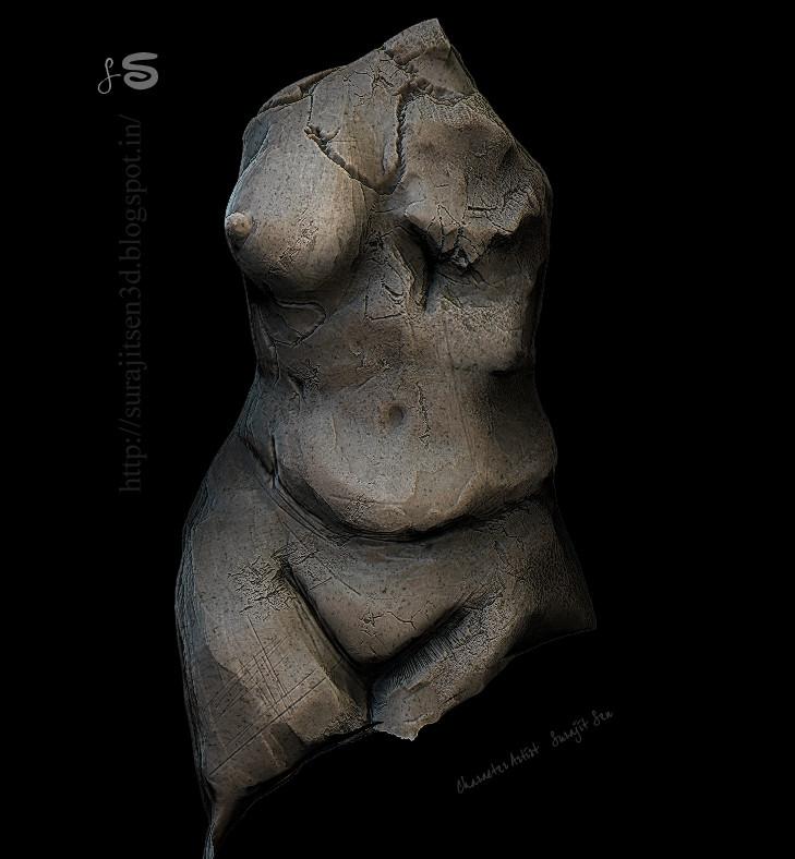 Surajit sen female body broken ss 07102017 sculpt